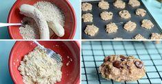 Super zdravé a rychlé fitness sušenky ze 2 ingrediencí Tart, Pancakes, Cereal, Oatmeal, Paleo, Healthy Recipes, Snacks, Vegan, Cookies