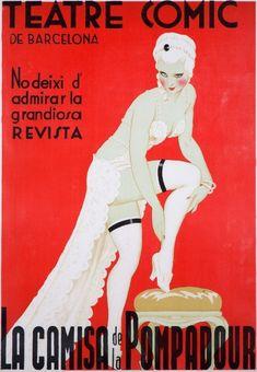 Teatre Comic de Barcelona - La Camisa de la Pompadour Spain Artwork (Art Prints, Wood & Metal Signs,