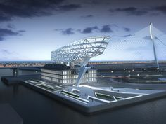 Zaha Hadid Architects have won a competition to design the new headquarters of Antwerp Port Authority in Antwerp, Belgium.  Add it to your #BucketList Plan your trip to #Antwerp #Belgium visit www.cityisyours.com