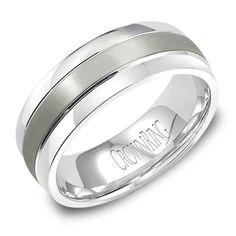 Titanium Men's Wedding Band Inlay 7.5mm Wedding Band from Steven Singer Jewelers