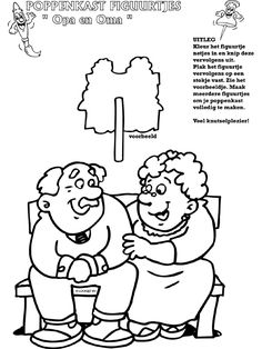 * Opa en oma - Poppenkastfiguurtjes -