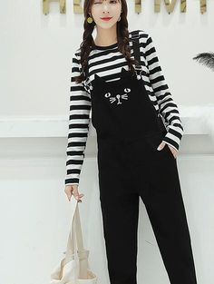 06ff92738e4 ... Suspender Pencil Pant Overalls Romper Slim Jumpsuit Plus Size Oversized  4XL-in Pants   Capris from Women s Clothing on Aliexpress.com