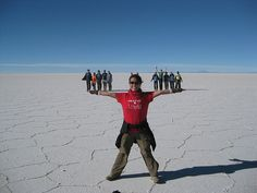 Salar de Uyuni is the perfect place to experiment with photogpraphy #Bolivia #Travel