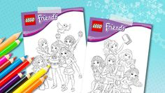 Lego Friends coloring pages Lego Themed Party, Lego Birthday Party, 6th Birthday Parties, 7th Birthday, Birthday Ideas, Lego Friends Birthday, Lego Friends Party, Girls Lego Party, Lego Girls
