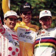 1992 : Le début du Tour est marqué par la révélation du Suisse Zülle, leader à l'issue de la première étape et par la présence des routiers français de la nouvelle génération, Dominique Arnould, Richard Virenque, Laurent Jalabert, Gilles Delion et Pascal Lino, qui porte le maillot jaune pendant dix jours, de Bordeaux à Saint-Gervais. Indurain s'empare définitivement de la première place du classement général à Sestrières où Chiappucci remporte une victoire spectaculaire.