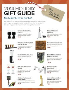 10 great gifts for the beer lover on your list - all available at KegWorks.com