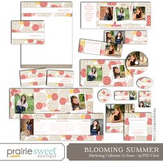 Blooming Summer Marketing Template Collection | Photoshop Templates for Photographers | Prairie Sweet Boutique