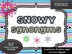 Synonym Activities, Speech Therapy Activities, Language Activities, Speech Language Pathology, Speech And Language, 2nd Grade Reading Worksheets, Valentines Day Bulletin Board, Love Speech, Synonyms And Antonyms