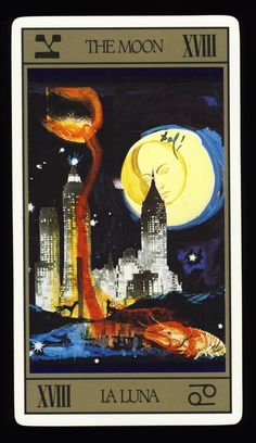 salvador dali deck - the moon. Because the occult is surreal