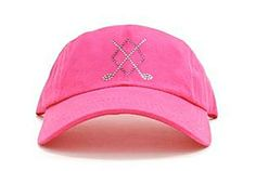 aaceb6e3840 Ladies Baseball Hat Rachel - Argyle Crossed Clubs Hot Pink Rose by Dolly  Mama Designs