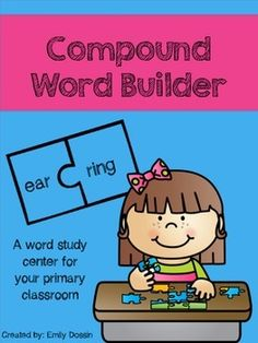 Compound Word center that allows students to build, read, and write real compound words.