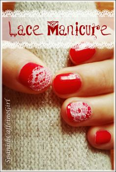 Lace manicure. Una manicura original, nada costosa y muy bonita!