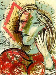 """Pablo Picasso - """"Head au poem"""". 1938"""