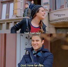 Rachel, Kurt et Blaine Glee Memes, Glee Quotes, Tv Quotes, Best Tv Shows, Best Shows Ever, Favorite Tv Shows, Love Her Style, My Love, Rachel And Finn