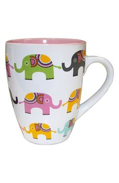 Main Image - PJ Salvage 'Elephants' Ceramic Mug Cute Coffee Mugs, Cute Mugs, I Love Coffee, My Coffee, Coffee Cups, Tea Cups, Elephant Mugs, Elephant Stuff, Stars Disney
