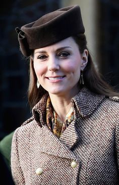 The Royal Family attended their traditional Christmas church service in Sandringham. 25 December 2014.