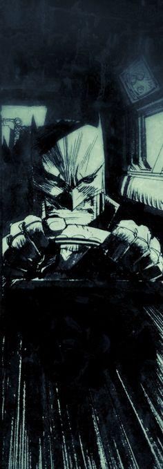Batman witte ridders kunst - werk in uitvoering 2 - W.B.