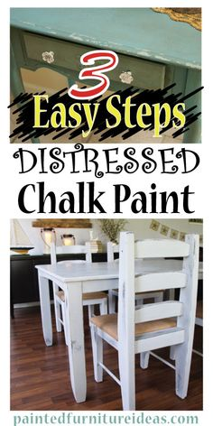 3 Easy Steps To Distressed Chalk Paint Furniture . learn how to easily distress furniture with chalk paint in three simple steps . Distressing Painted Wood, Distressed Furniture Painting, Chalk Paint Furniture, Furniture Projects, Furniture Making, Furniture Makeover, Diy Furniture, Diy Projects, Furniture Websites