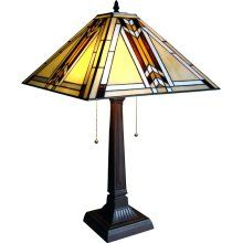 South Western Design Mission Stained Glass Lamp