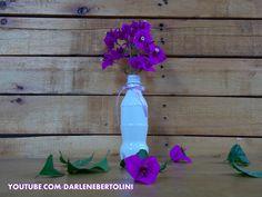 Garrafinhas transformada em vasinhos - coca-cola