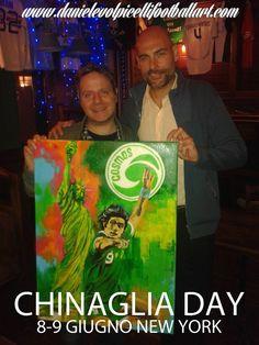 Dipinto per il Chinaglia day a New York