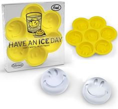 –There are 7 chances to spread happiness in this hyper-friendly, reusable ice tray. It's the classic cool symbol that never fails to turn a frown upside down Ice Molds, Candy Molds, 3d Modellierung, Cool Symbols, Silicone Ice Trays, Wine Chillers, Smiley Happy, Wine Refrigerator, Ice Ice Baby