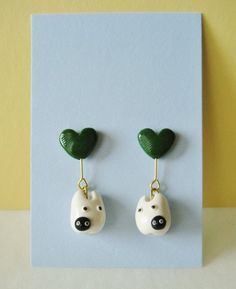 White totoro and soot sprite earrings by Sirix14 on deviantART