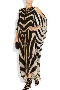 Roberto Cavalli animal-print silk-chiffon dress
