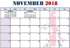17 Best November 2018 Calendar Templates Images On Pinterest