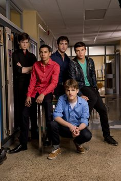 Degrassi- Jake Martin,  Mike Dallas,Owen Milligan,Drew Torres and Luke Baker