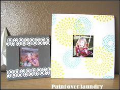 How to stencil a picture frame. Super cute patterns!