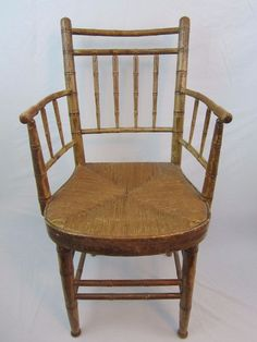 Vintage Bamboo Arm Chair Accent Youth Size Small Adult Needs TLC  #Bamboo #Unknown Accent Chairs, Bamboo, Armchair, Youth, Home And Garden, Furniture, Vintage, Home Decor, Upholstered Chairs