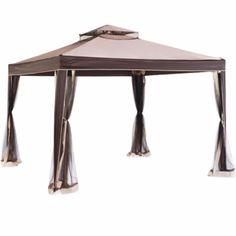 Gazebo 10 x 10 ft Weist Canopies Pergolas outdoor mosquito netting On Sale new  #Sunhill