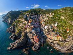 Riomaggiore, Cinque Terre, Italy Stunning Aerial Photos Reveal How Birds See Popular Destinations - My Modern Met