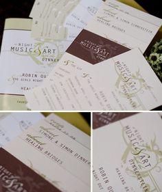 Non-Profit Invitation Set, Program & Ticket Corporate Invitation, Invitation Set, Invites, Party Invitations, Nonprofit Fundraising, Youre Invited, Non Profit, Letterpress, Ticket