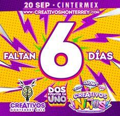 Sólo faltan 6 días para #Creativos