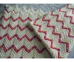 Elegant ripples in a baby blanket