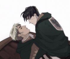 Levi X Petra, Levi And Erwin, Attack On Titan Jean, Attack On Titan Anime, Captain Levi, Eruri, Man Vs, Levi Ackerman, Man In Love