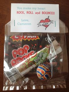 William - -Kids' School Valentines. Bag includes Pop Rocks, Fruit Roll Up and bouncy ball!