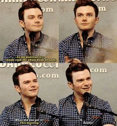 Bestselling author, actor, and out and proud--this is a guy I really wish I knew--Chris Colfer!