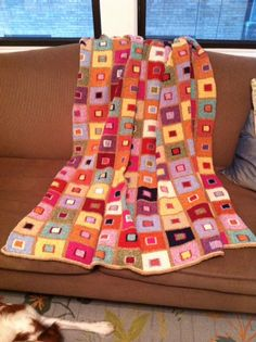 Kaffe Fassett's Madras Throw, which was featured in Rowan Magazine issue 47