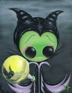 Sugar Fueled Maleficent Sleeping Beauty Raven by Sugarfueledart, $12.00