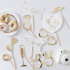 Photo Booth Wedding Props White/Gold These photo booth props will be the perfect addition to your photo booth or bridal party! Everything you need to plan your wedding.<br> Photo Booth Wedding Props White/Gold buy on target Team Groom, Team Bride, Wedding Photo Booth Props, Party Props, Bachelorette Photo Booth, Party Signs, Party Hats, Wedding Table, Rustic Wedding