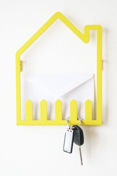 $65.00 Keep keys and letters to be posted in place with this 'La Casa' storage hanger. We love!