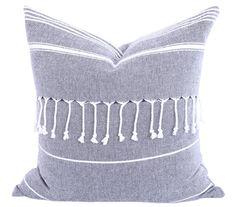 Turkish Tassel Pillow, Grey by Tonic Living.