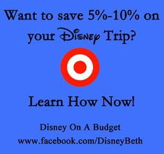 How to save 5%-10% on your Disney trip! Check out Disney on A Budget on Facebook!