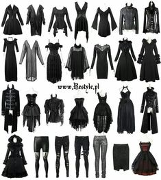 What Are The Best Places To Find Gothic Fashion Accessories? Gothic Outfits, Edgy Outfits, Anime Outfits, Girl Outfits, Fashion Outfits, Gothic Dress, Style Fashion, Fashion Ideas, Dark Fashion