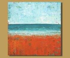 TITLE: Salt Water Blue    This is an original acrylic abstract painting hand painted by the artist.    DESCRIPTION:  This is a lovely large