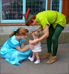 Peter and Wendy. With a baby. I have never been more deceased in my life.