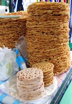 In Mexico buñuelos are made from a yeasted dough with a hint of anise that is… Mexican Sweet Breads, Mexican Bread, Real Mexican Food, Mexican Dishes, Mexican Food Recipes, Dessert Recipes, Desserts, Crepes, Waffles
